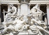 Vienna - detail from Athene fountain for the parliament