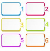 Vector Illustration Of Numbered Paper Stickers