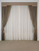 The Curtain With Blank Space