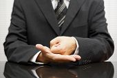 Angry Businessman   Making A Fist On Meeting