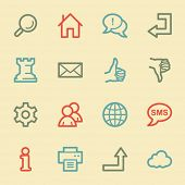 Web & internet icon set 2, retro color