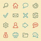 Web & internet icon set 1, retro color