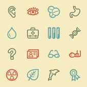 Medicine web icon set 2, retro color