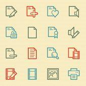 Document web icon set 1, retro color