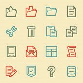 Document web icon set 2, retro color