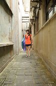 Chinese Woman in an Alley