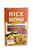 West Point - August 17, 2014: 5oz Box of RICEARONI, The san Francisco treat, in Chicken and mushroom