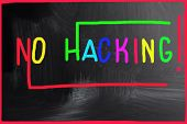No Hacking Concept