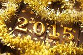 New year 2015,Closeup.