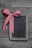 Old Slate - Empty Black Chalkboard For A Greeting Card Or A Board For Advertising