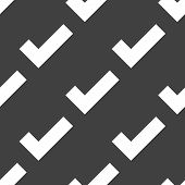 tick web icon. flat design. Seamless pattern.