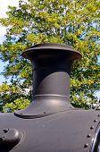 Steam locomotive funnel.
