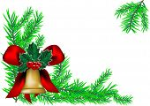 Christmas Bell And New Year Tree