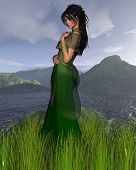 Celtic Princess with background