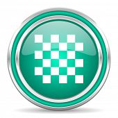 chess green glossy web icon