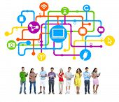 People Social Networking and Internet Concepts