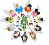 Group of Multiethnic Diverse Kids Hobbies