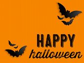 picture of happy halloween  - Happy Halloween Ghost Bat Icon Background Vector - JPG