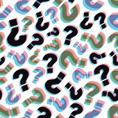 Questions. Seamless pattern. Vector illustration. Can be used for wallpaper, web page background, web banners.