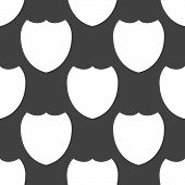 Shield protection web icon. flat design. Seamless pattern.