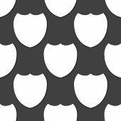 Shield protection web icon. flat design. Seamless pattern.