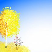Vector background with autumn decor