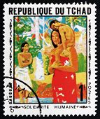 Postage Stamp Chad 1969 Mother And Child, By Gauguin