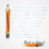 Back to school, pencils