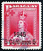 Postage Stamp Paraguay 1945 Our Lady Of Asuncion