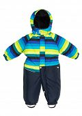 Childrens snowsuit Coat on a white background