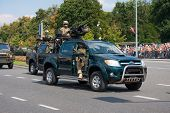 Grom - Elite Counter terrorism Units In Armored Toyota Hilux. Poli