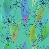 Seamless Pattern Of Hyacinth Flowers