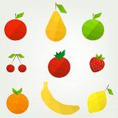 flat fruit set