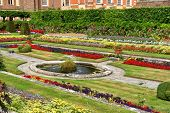 Sunken Gardens at Hampton Court Palace near London, UK