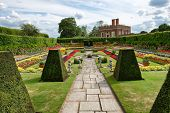 Sunken Garden at Hampton Court Palace near London, UK