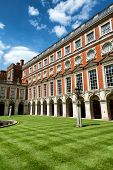 The Fountain Court designed by Sir Christopher Wren at Hampton Court Palace near London
