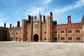 image of royal palace  - Main Court at Hampton Court Palace - JPG