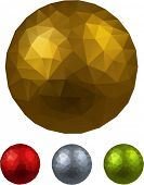Colorful balls. Set of textured realistic decorations. Vector illustration.