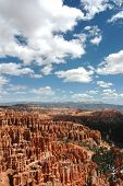 Bryce Canyon with Cloudy Sky