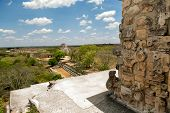 Overseeing Uxmal From Top Of Pyramide