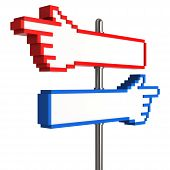 Blank Pixel Hand Signpost