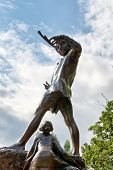 LONDON, UK - AUGUST 04, 2014 - The Peter Pan Statue at Hyde Park in London, UK on August 04, 2014