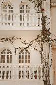 house and window with flowers on Zakynthos island, Greece