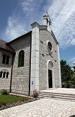 CETINJE, MONTENEGRO - JUNE 09, 2012: The Catholic Church of St. Anthony of Padua, on June 09, 2009 i