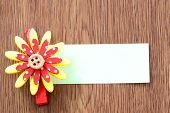 Hairpins Of Red Mix Yellow Pattern And Note Paper.
