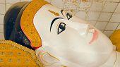 Reclining Buddha. Seinthalyaung Temple. Bago. Myanmar