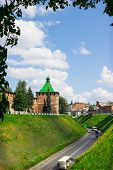 Russia, Nizhny Novgorod - Aug 06, 2014: The Photographs Show The Tower Of Nizhny Novgorod Kremlin