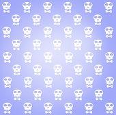 Skulls Pattern, Abstract Seamless Texture.