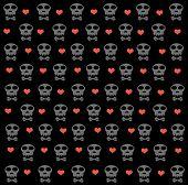 Skulls Pattern Abstract Seamless Texture.
