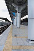 Empty Railway Station Vertical